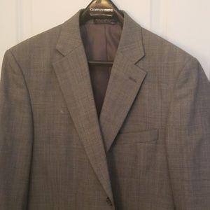 Heather gray suit jacket